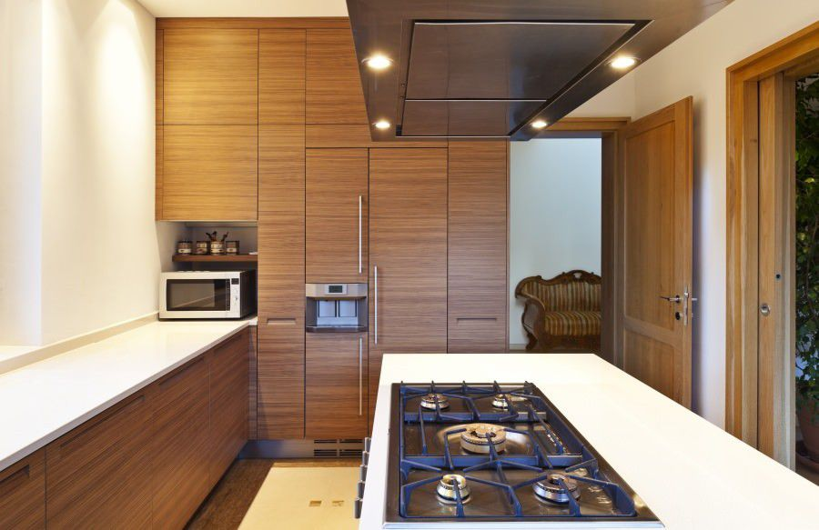 Canaletto Rift Cut cabinets