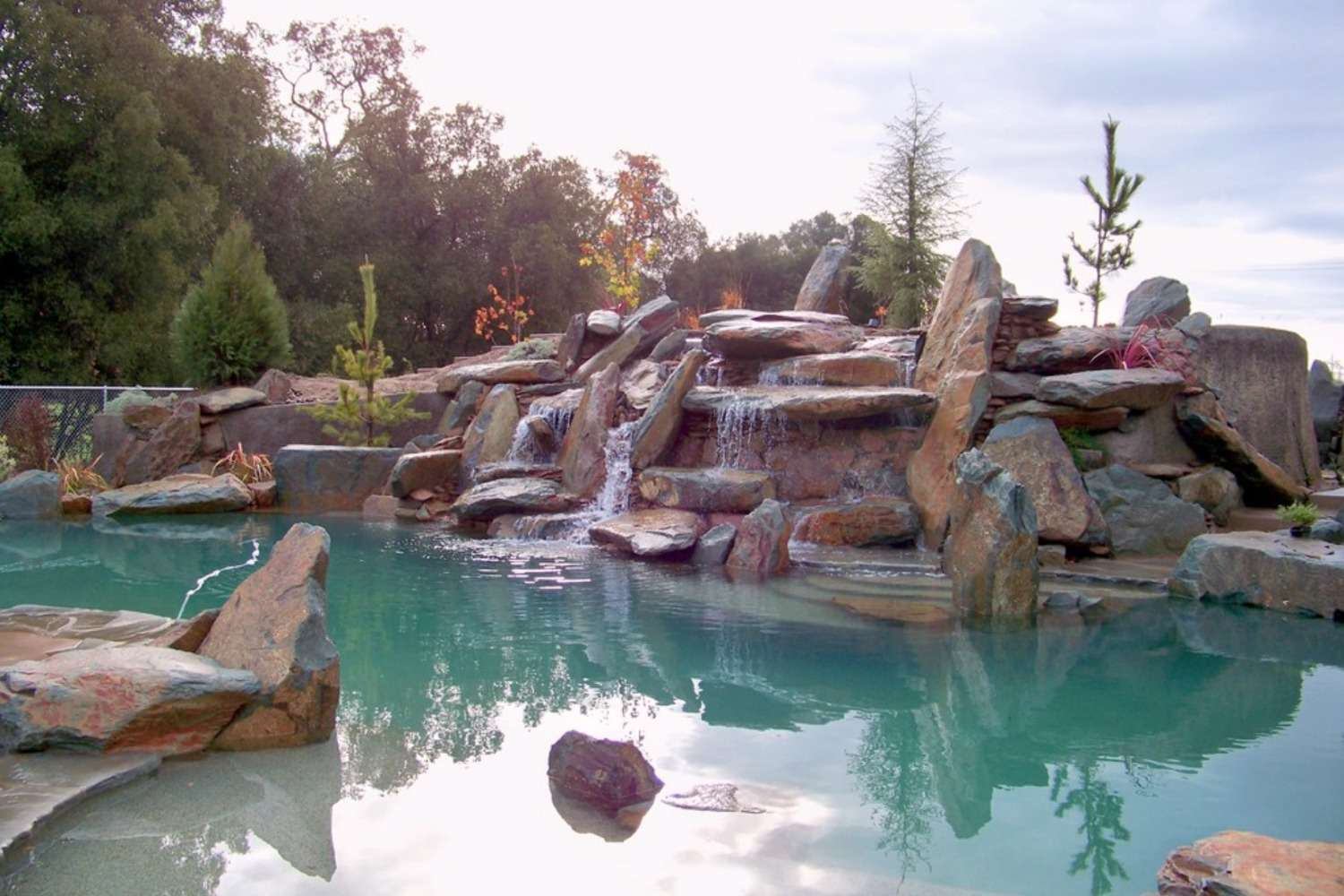 Pool with boulders