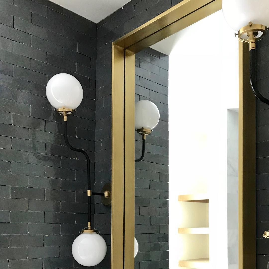 Brass accents with black subway title