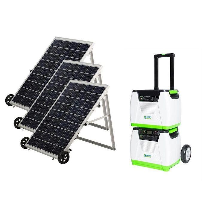 Nature's Generator 1920-Watt Hour Portable Solar Generator and Panels