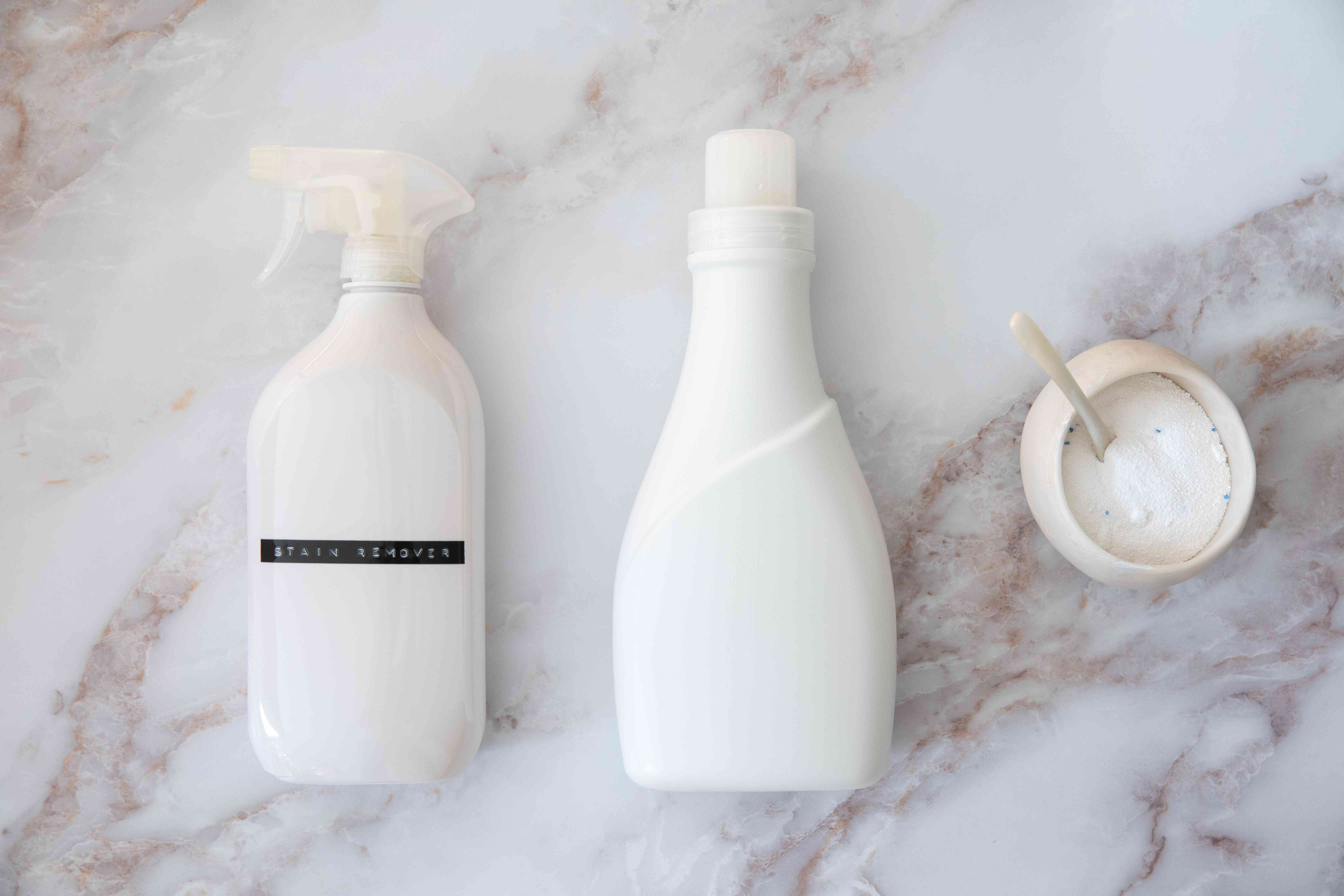 A variety of laundry products