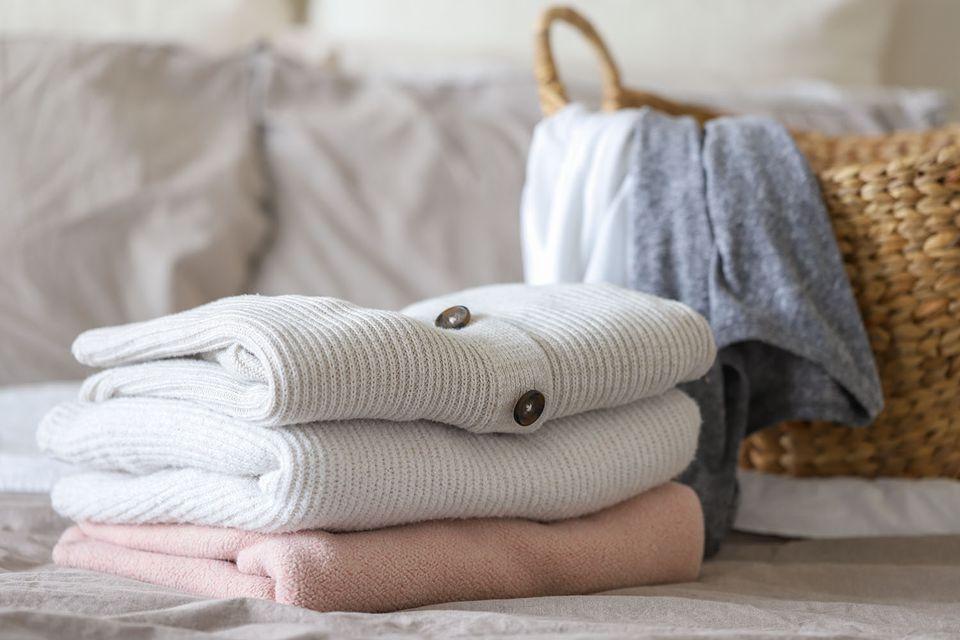 folded knit clothing