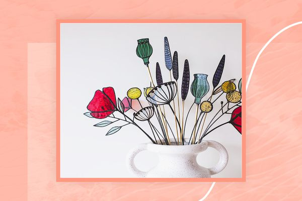 stained glass bouquet is one of the 100 finalists in the 2021 Etsy Design Awards