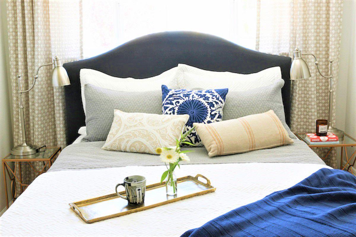 Cambio de imagen de dormitorio relajante después