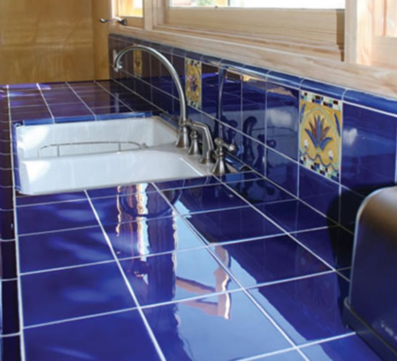 Misión Solistone pintada a mano de azulejos de cocina