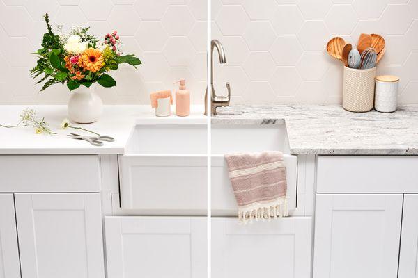 Corian vs granite kitchen countertop