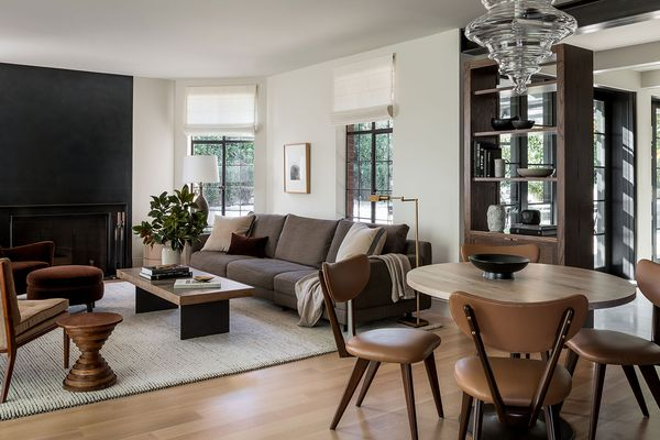 Contemporary living and dining room