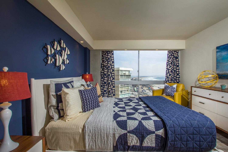 Estilo de decoración de dormitorio costero