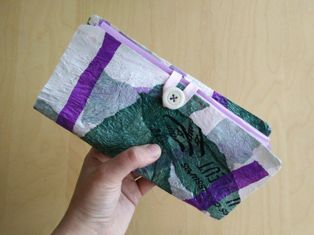Plastic wallet.