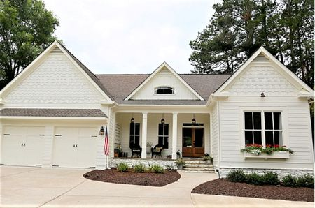 White Farmhouse Style Exterior Paint Color