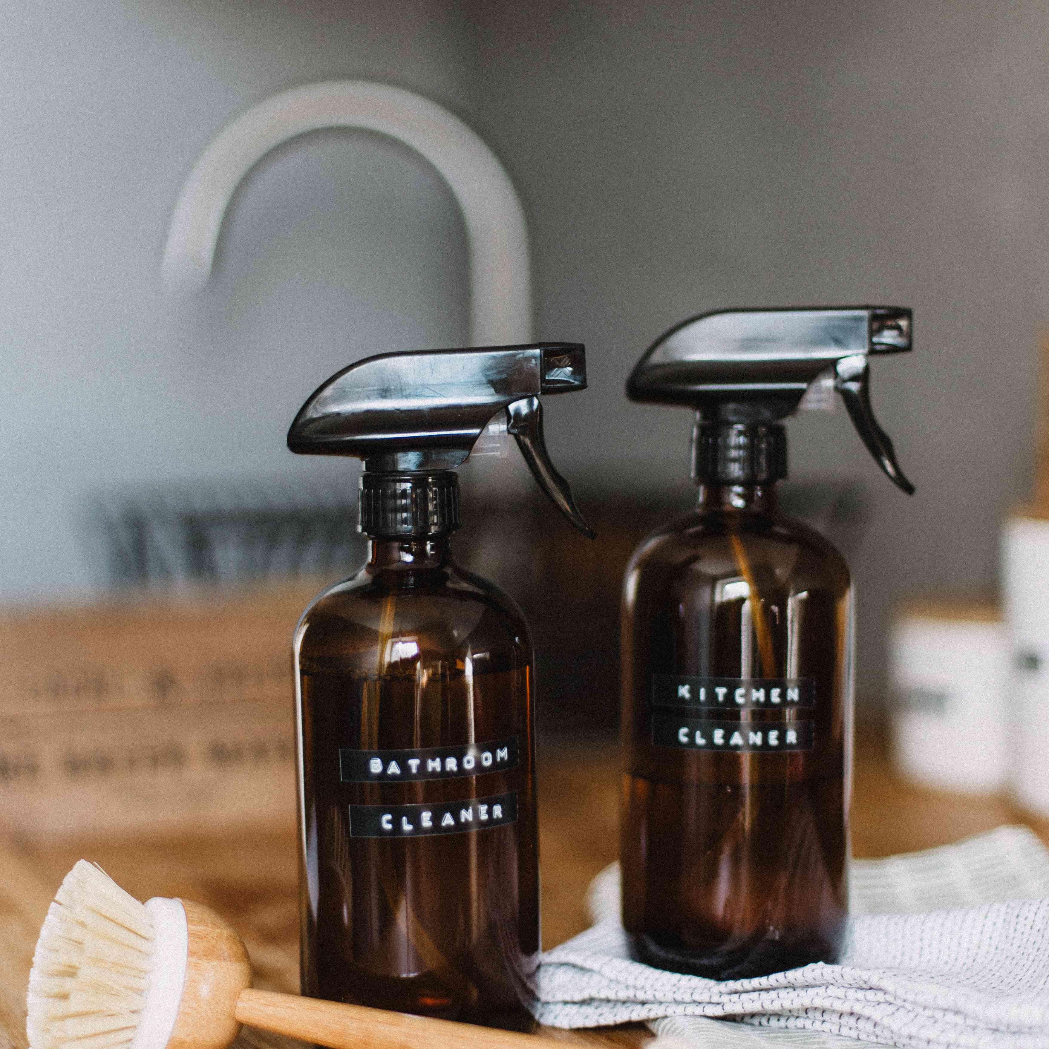 Botellas de limpiadores