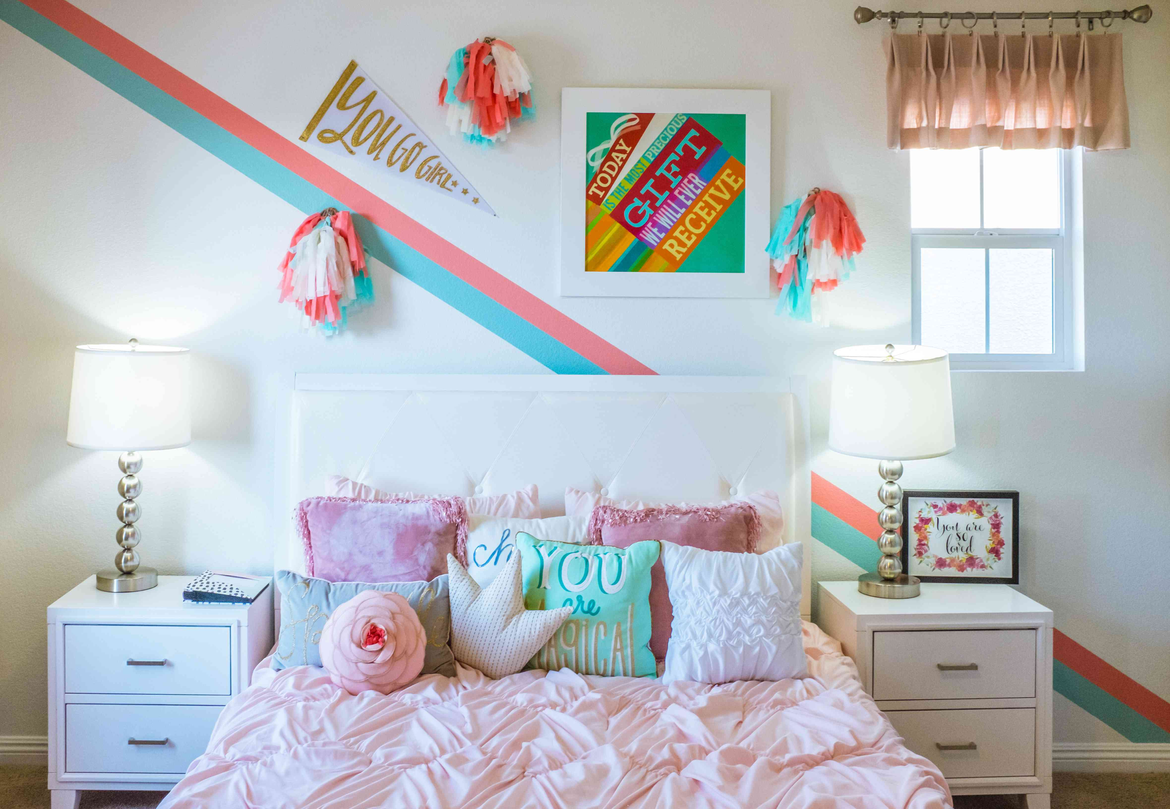 valance in a child's bedroom