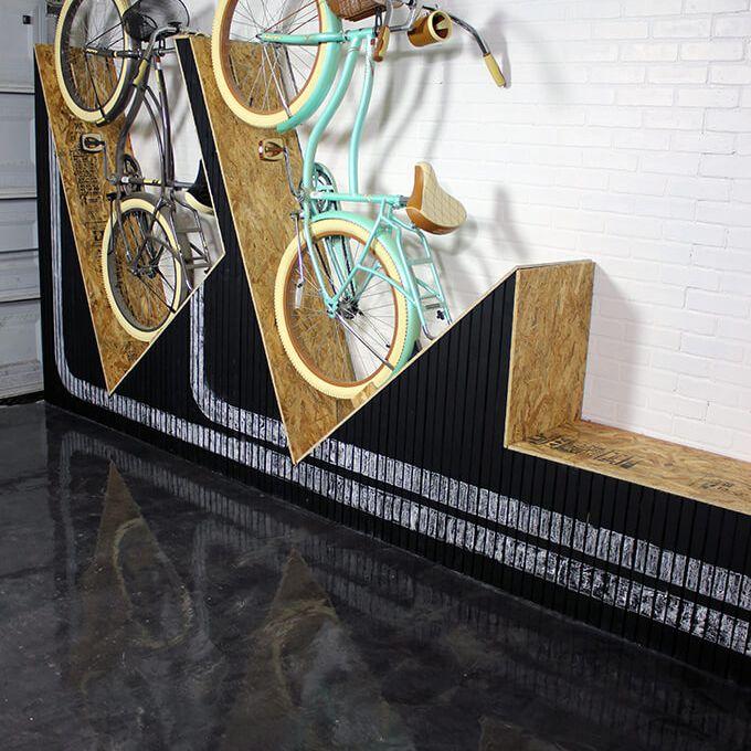 diy bike rack bench