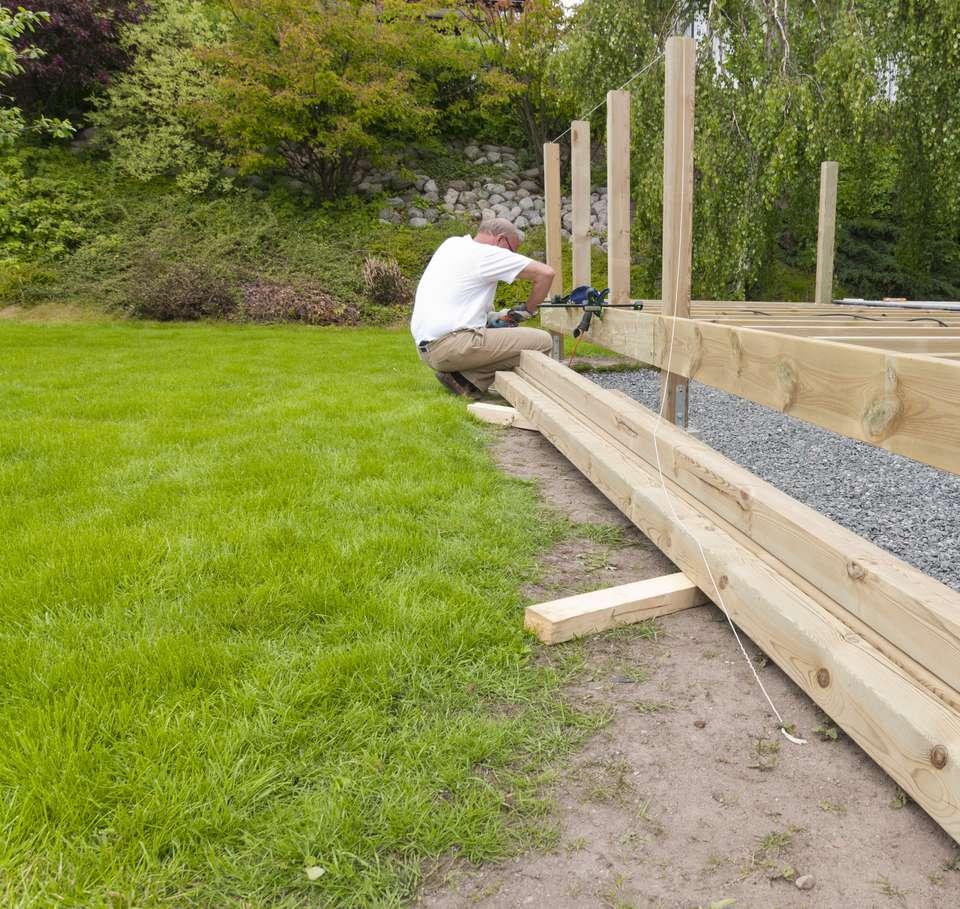 Framing a Backyard Deck