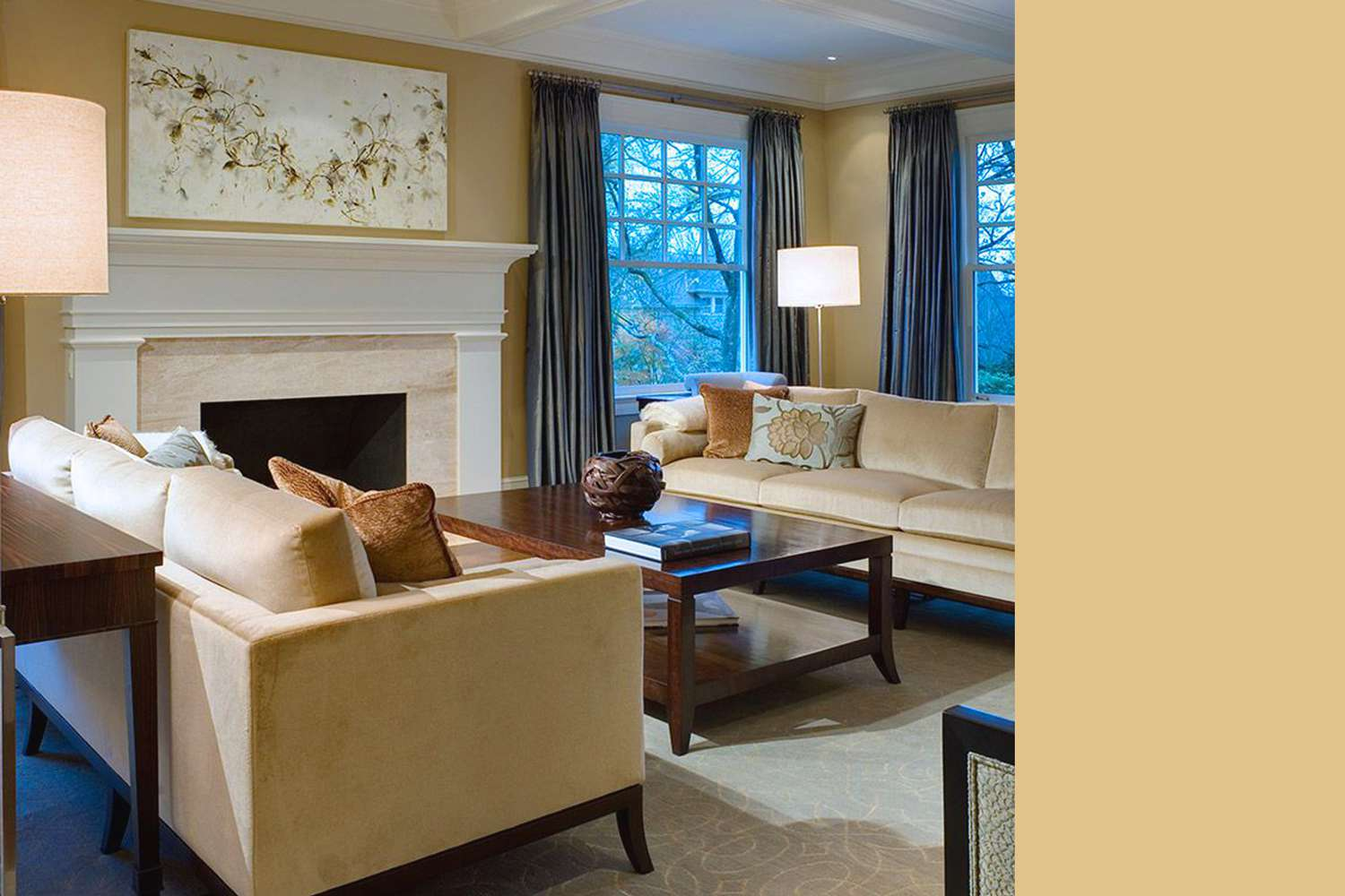 Interior painted a similar color to Autumn Glow by PPG