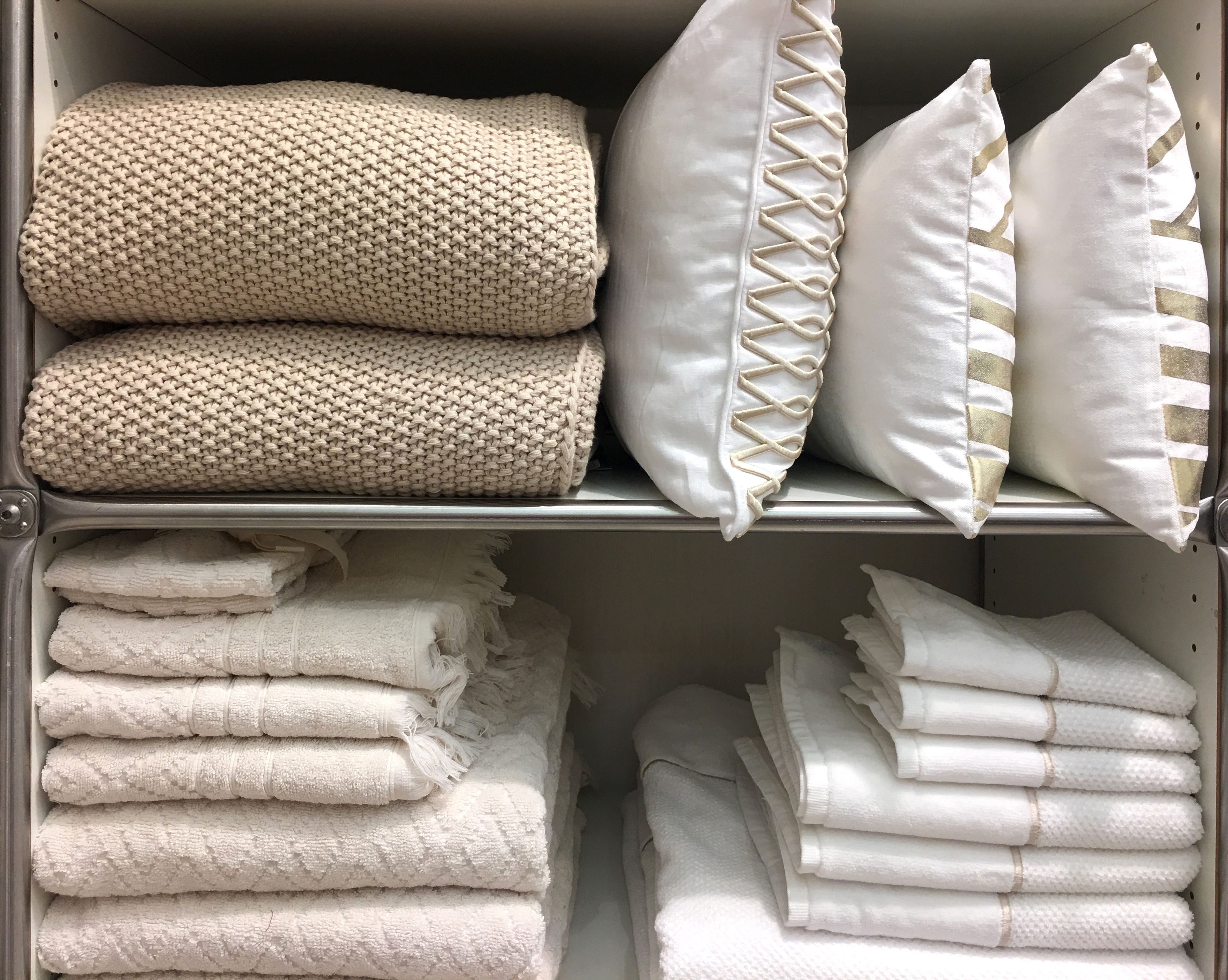 Various household items in closet