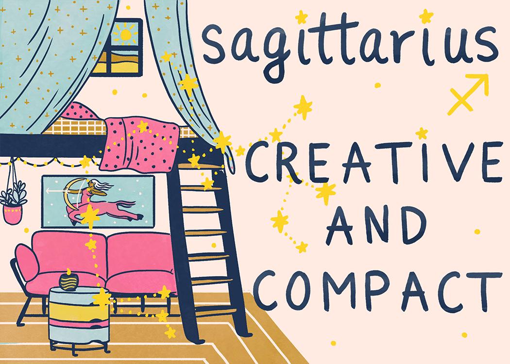 sagittarius home decorating illustration