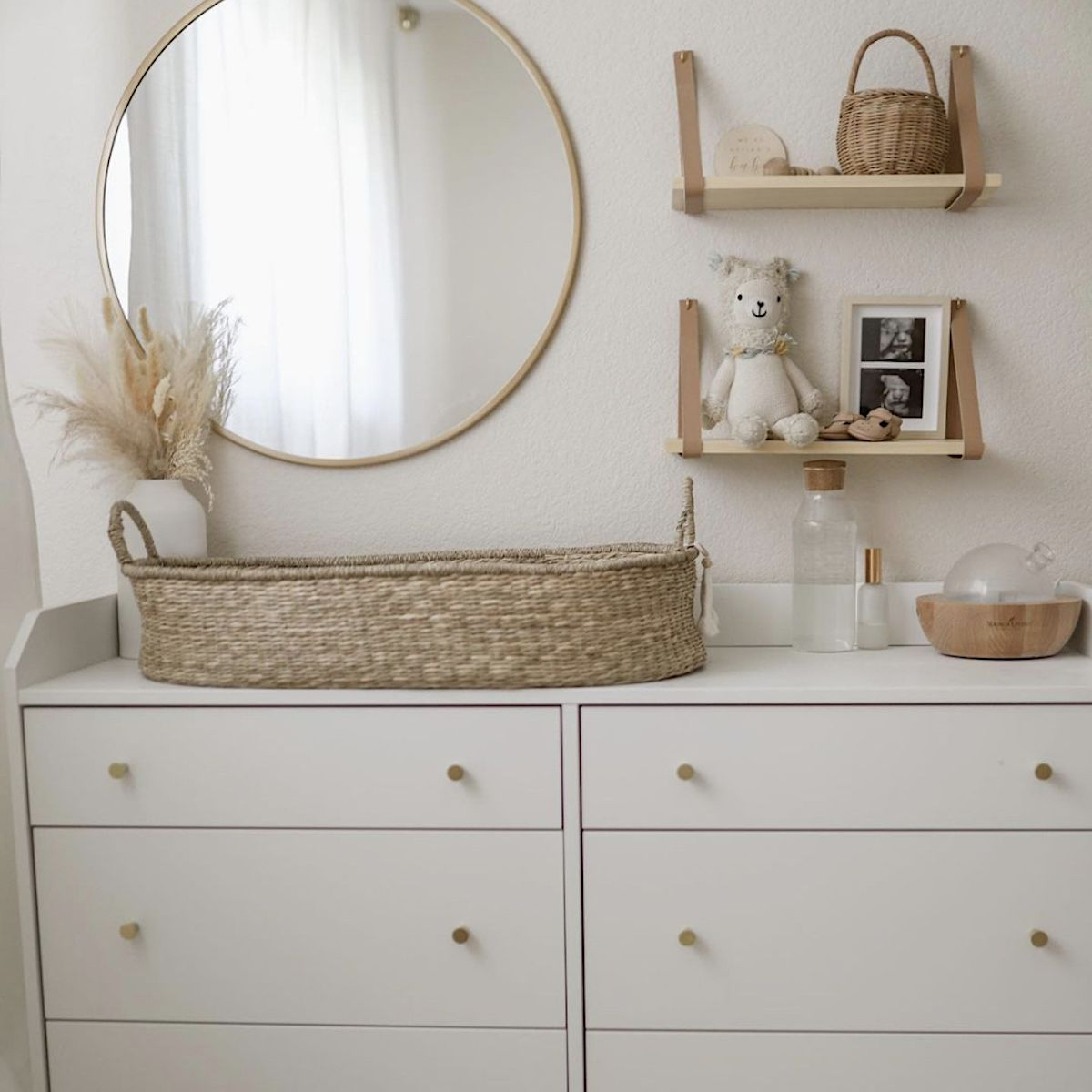 nursery decorated with neutrals