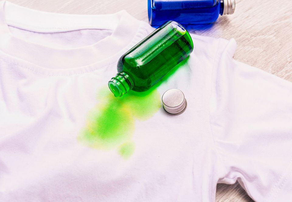food coloring stains