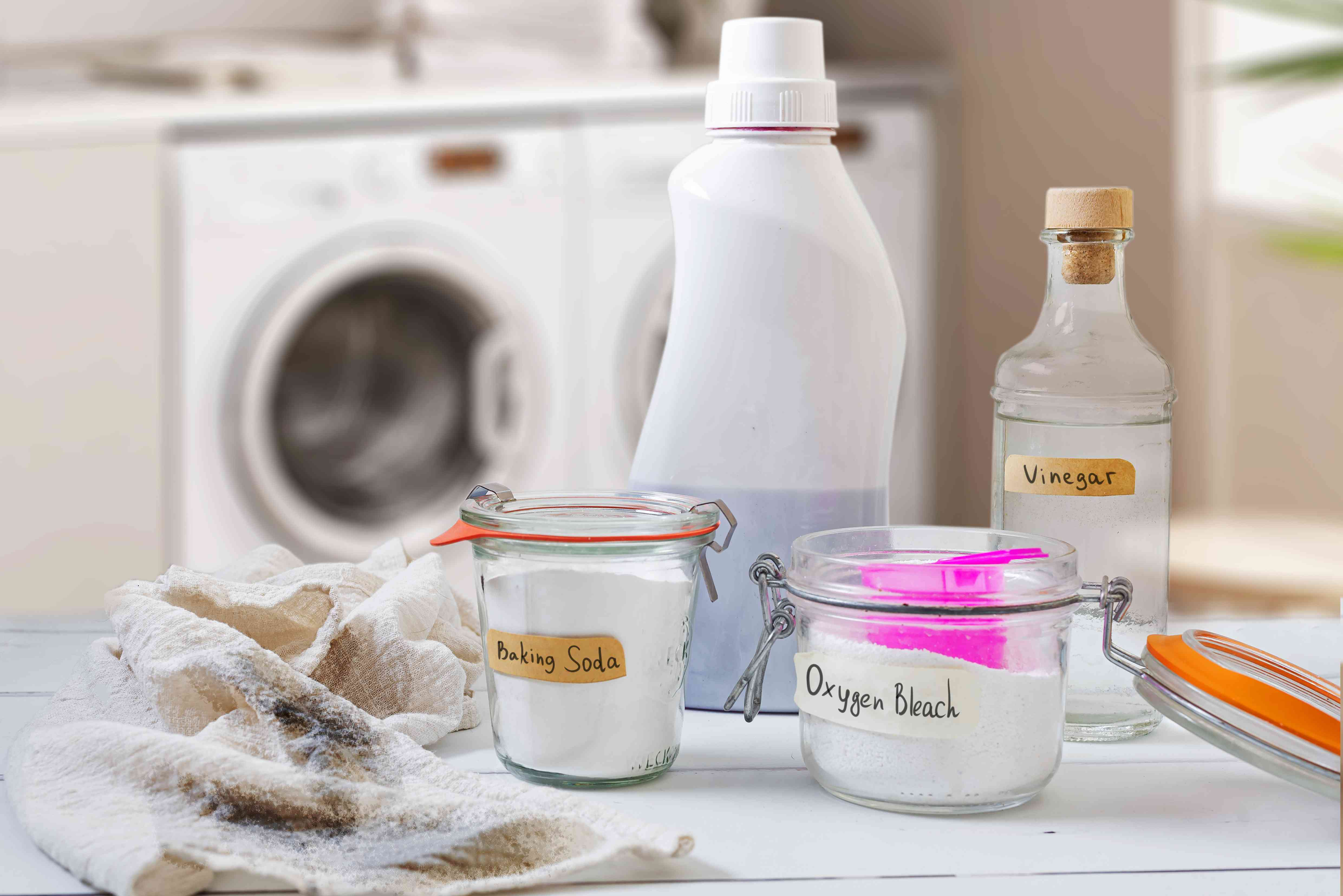items for removing soot stains from washable clothing