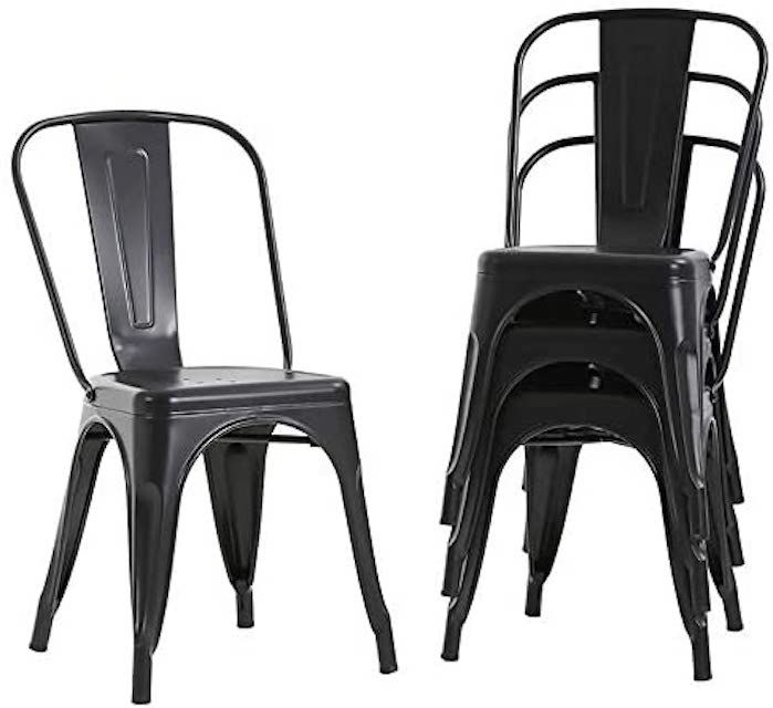 FDW Store Metal Dining Chairs