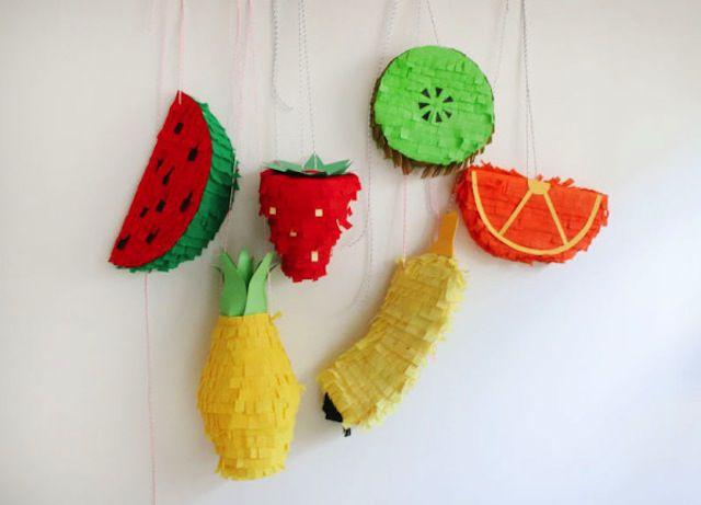 Piñatas de frutas