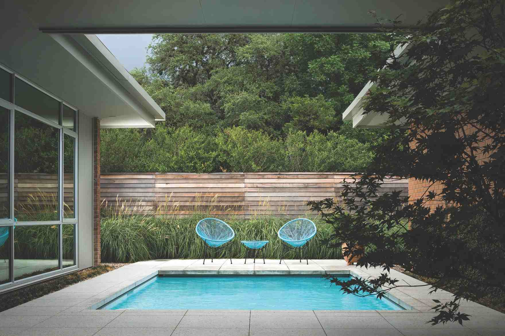 small pool in courtyard