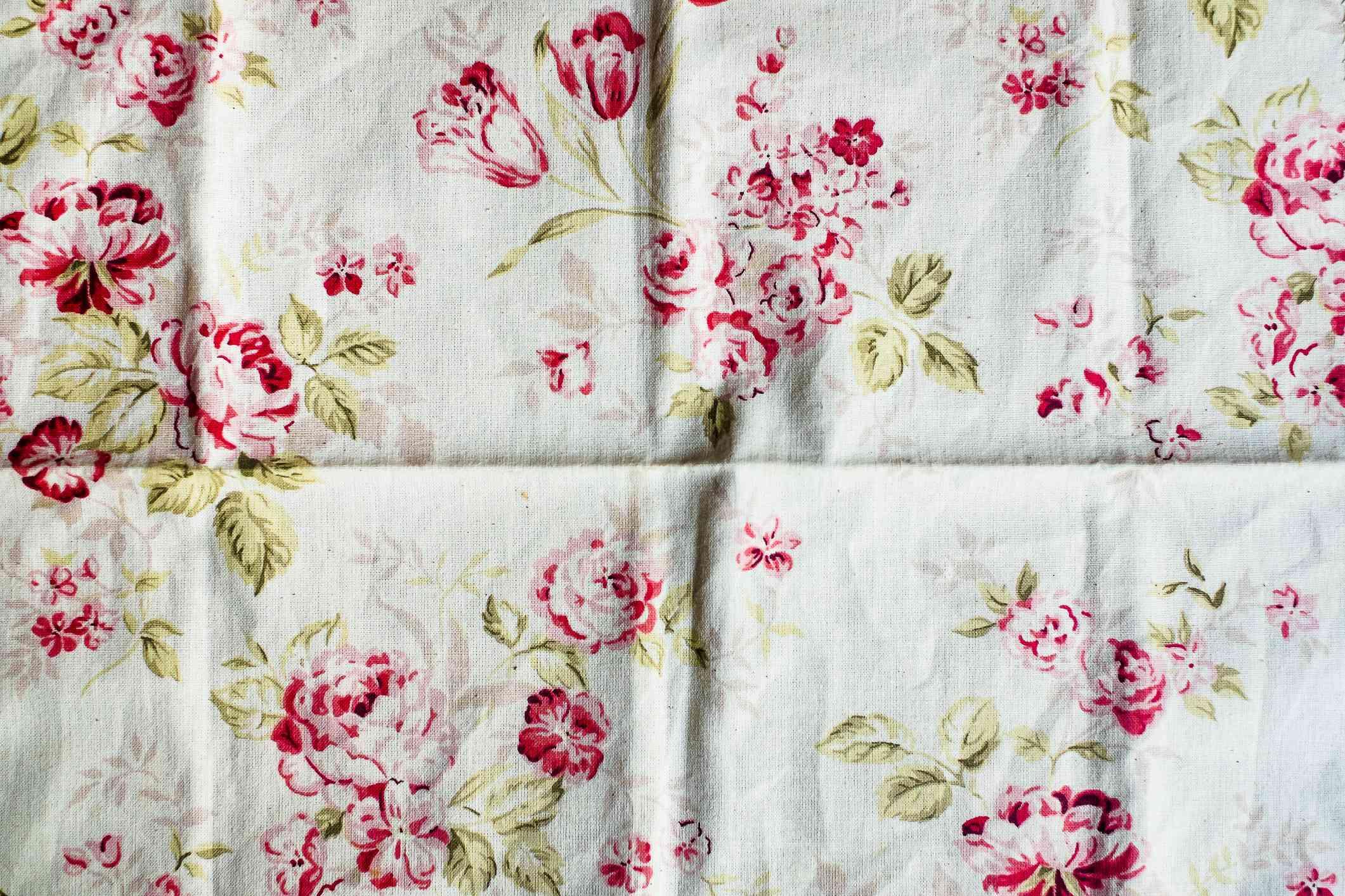 Floral chintz fabric