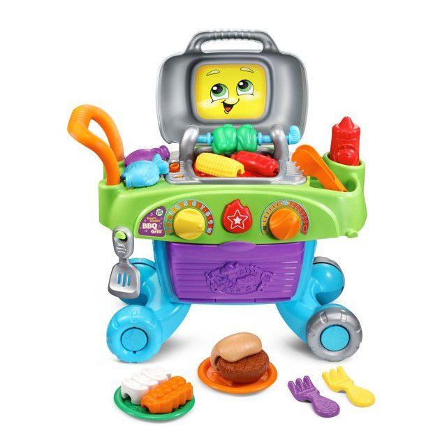 LeapFrog Smart Sizzlin' BBQ Grill Learning Toy With Food and Tools