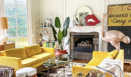 saturated colors living room