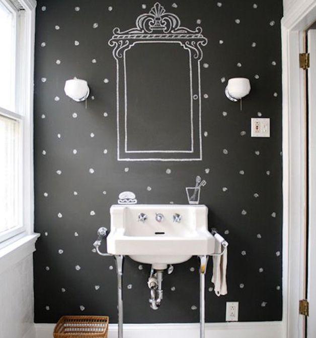 Papel tapiz en el baño