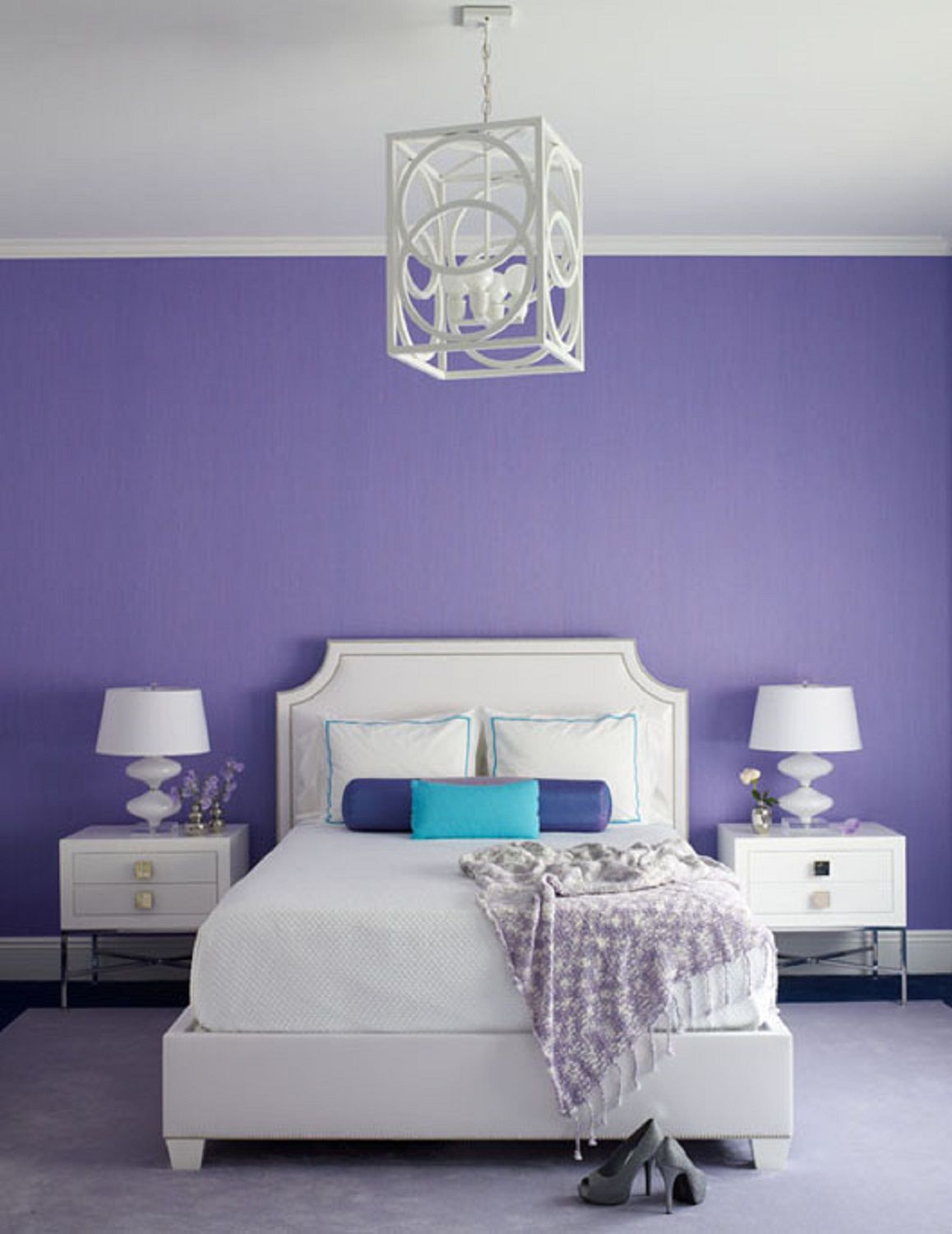 purple bedrooms tips and photos for decorating