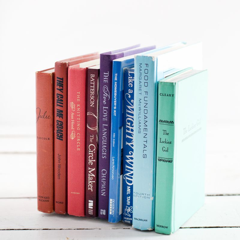 DIY Invisible Bookends