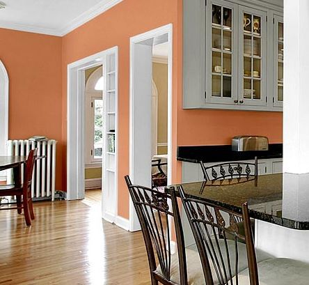 Kitchen Wall Color White And Peach