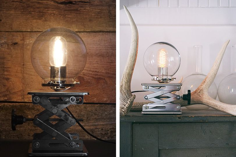 Cranky is a vintage-inspired table lamp.