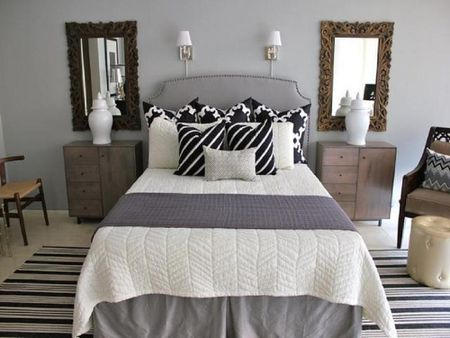 Beautiful Gray And Neutral Bedroom