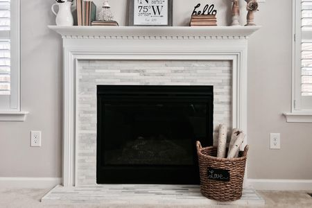 Narrow Thin Tile Fireplace