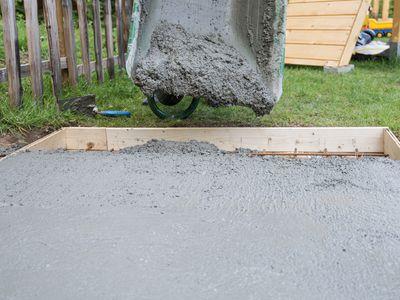 How To Build A Concrete Patio, How To Pour Cement Patio