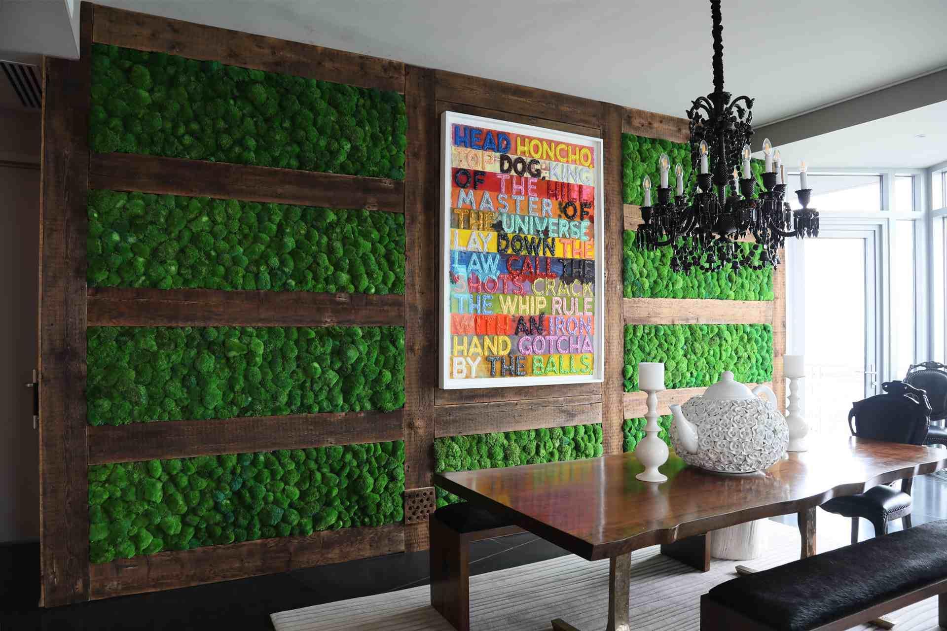 100 Percent Maintenance Free Preserved Moss Wall