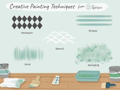 creative painting techniques illustration