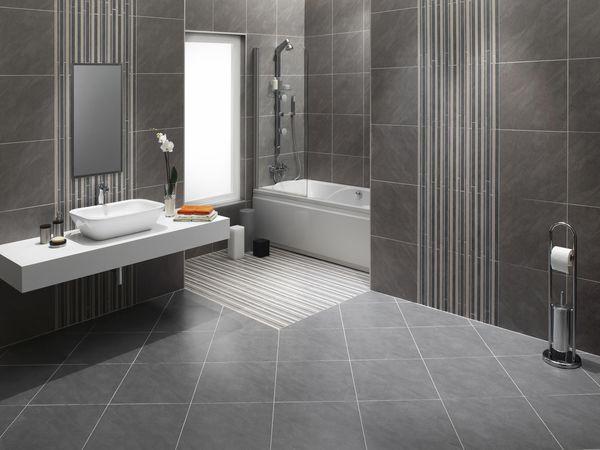Bathroom with Stone Floor