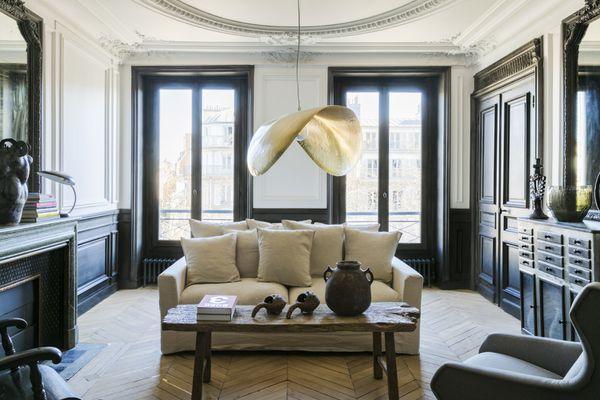 Living room at the Merci apartment in Paris