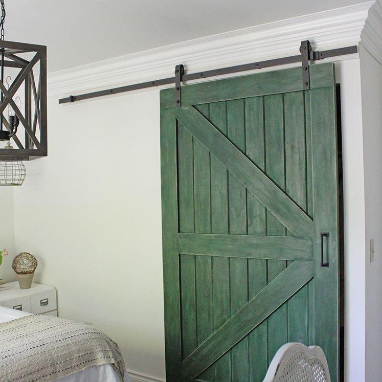 green barn door