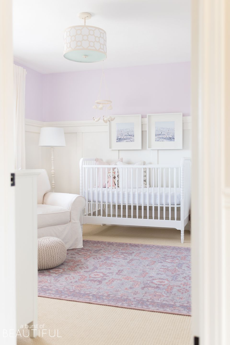 Purple girl nursery