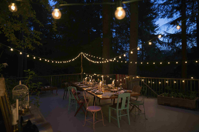 luces de cuerda de patio