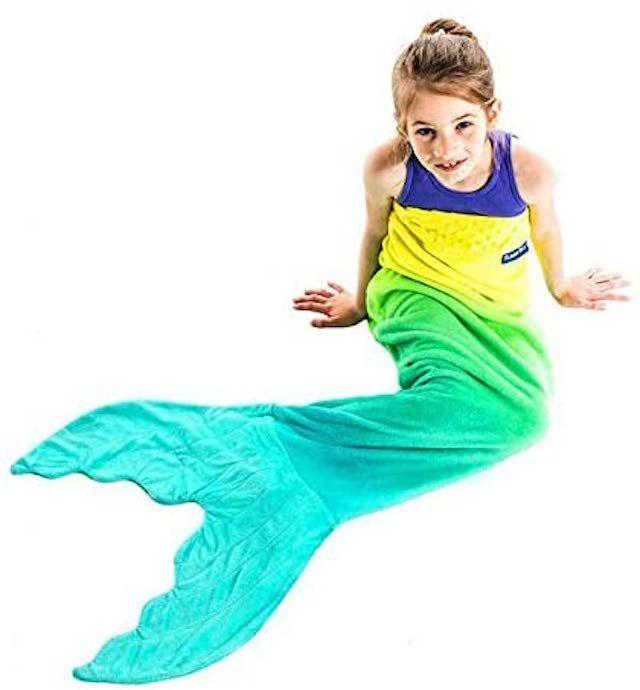 Blankie Tails Mermaid Tail Blanket for Kids