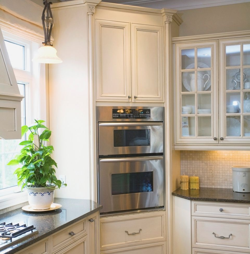 Corner Kitchen Cabinet with Oven