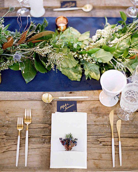 Centro de mesa de boda de invierno de Greenery Garland