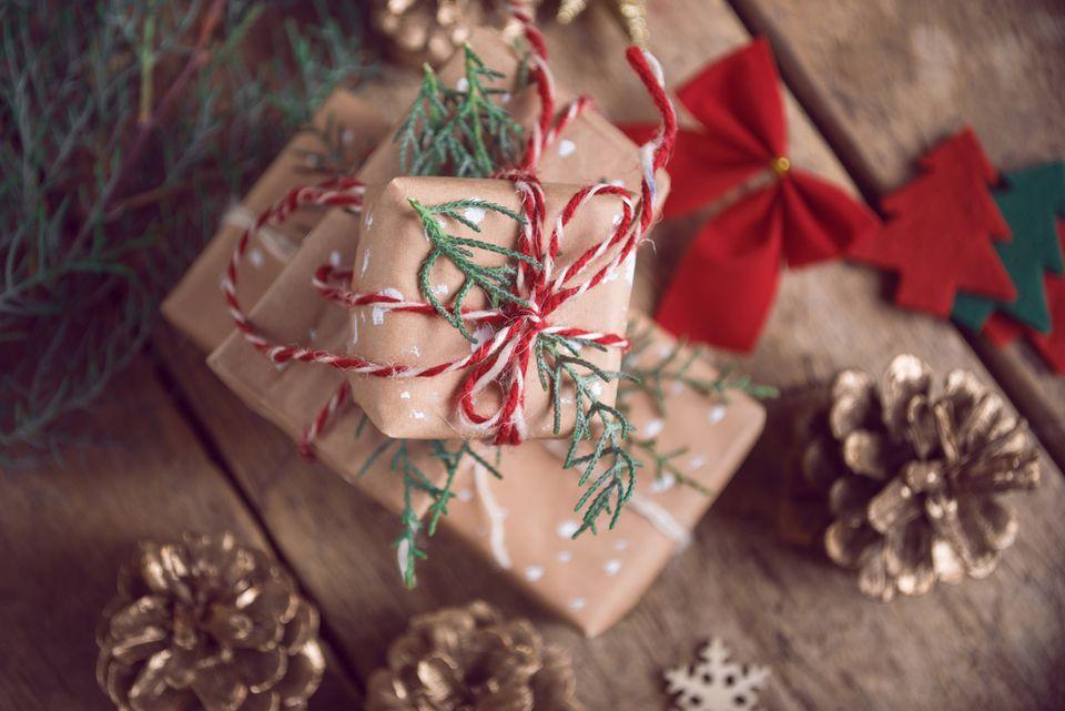 Regalos de navidad envueltos