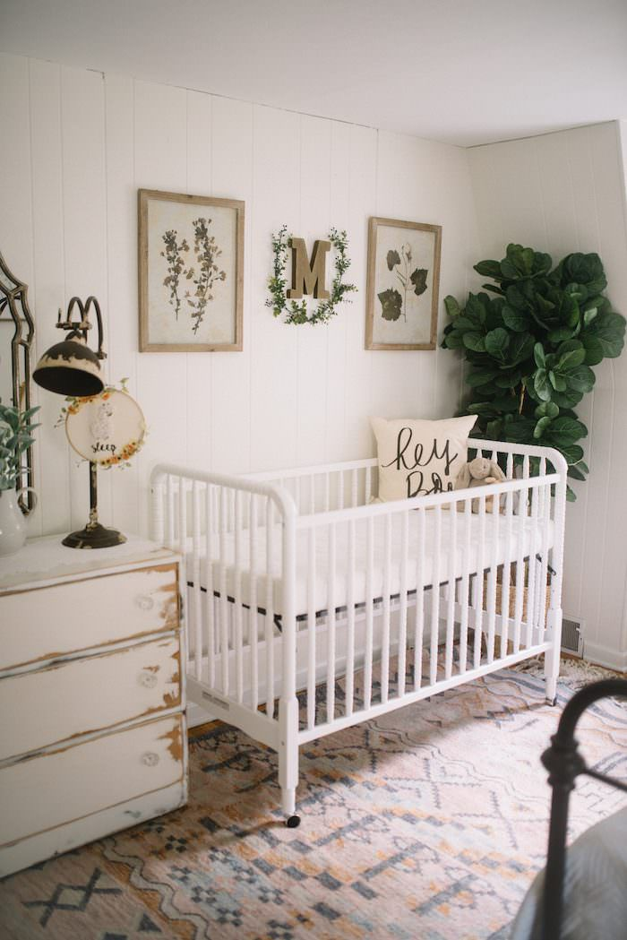 Sweet and simple rustic nursery with boho charm